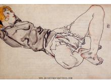 Reclining Woman with Blond Hair 1