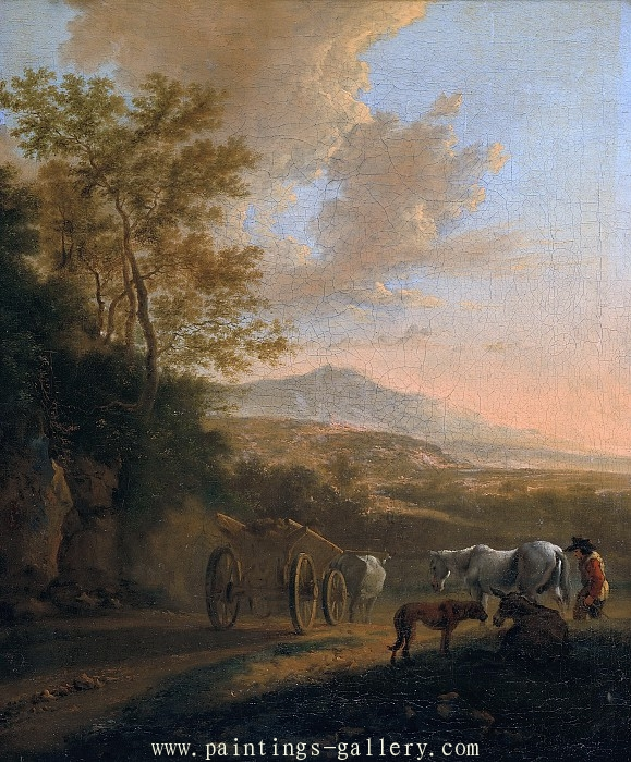 Italian Landscape with an Ox-cart