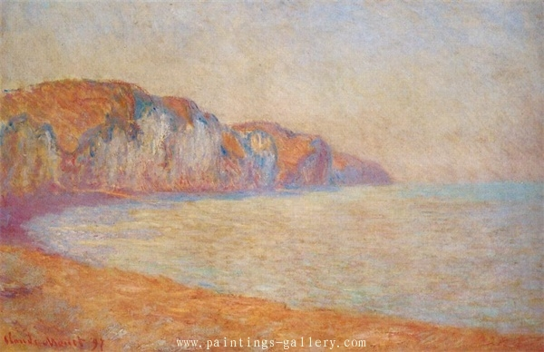 Cliff at Pourville in the Morning