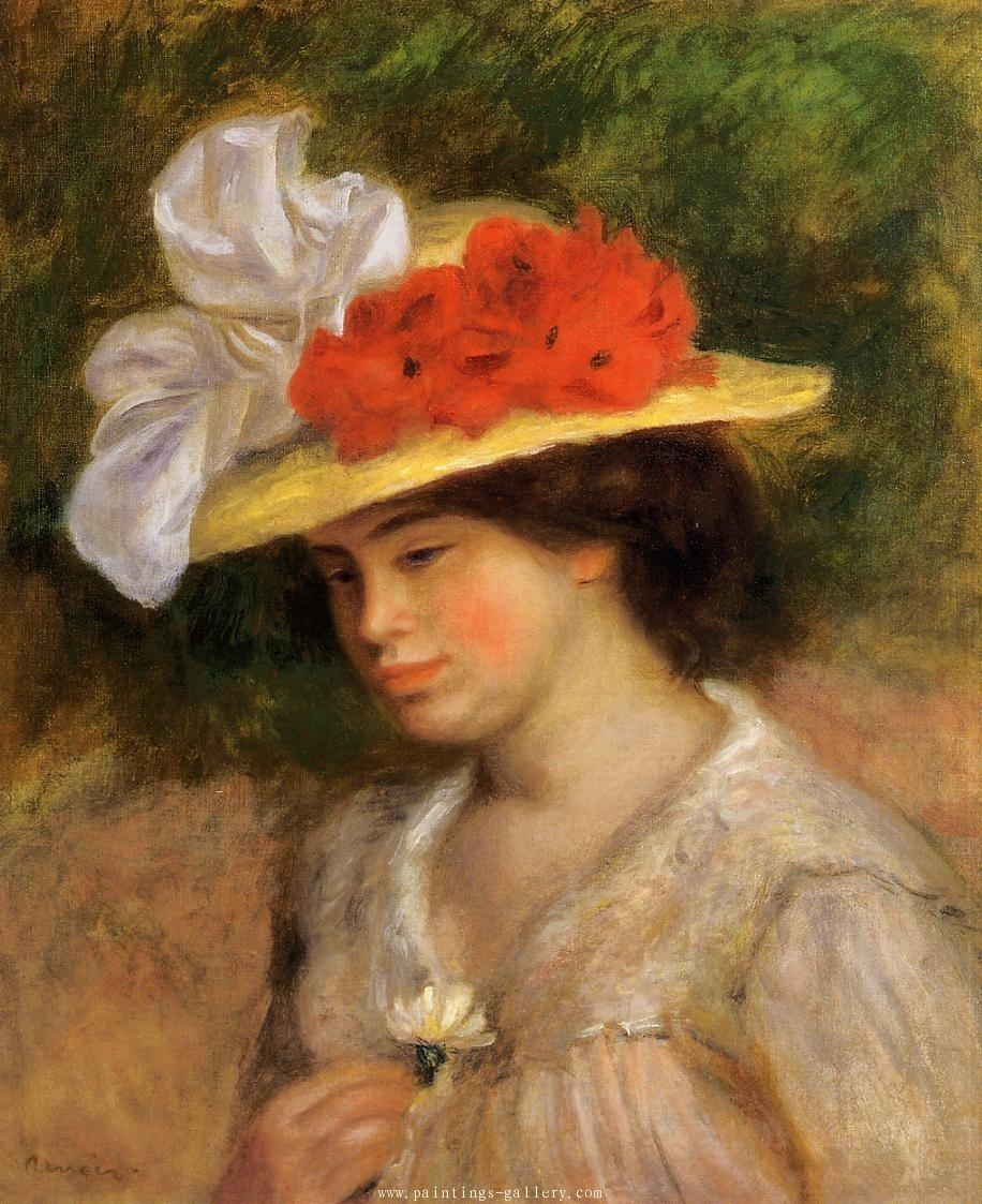 Woman in a Flowered Hat