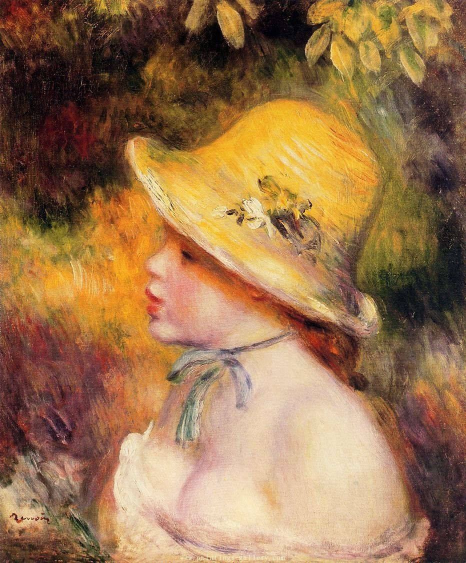 Young Girl in a Straw Hat 2