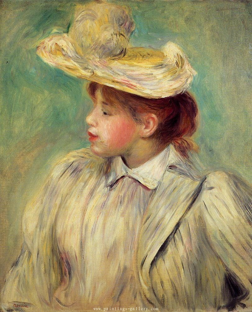 Young Woman in a Straw Hat 1