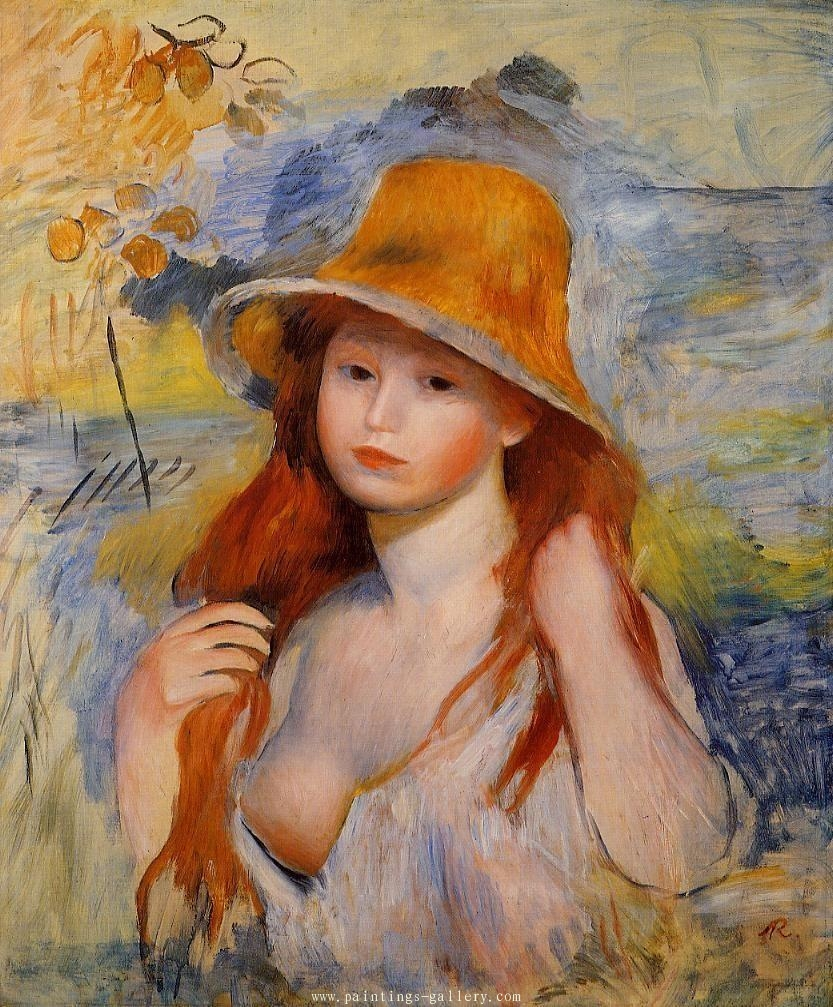 Young Woman in a Straw Hat 2