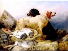 Two Sporting Dogs with Dead Game